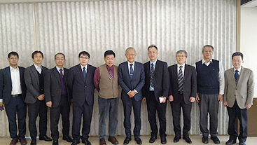 At a meeting with Prof. Fukuda, UEC President