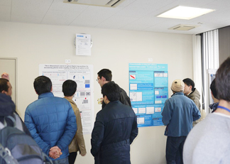 Attendees at poster presentation